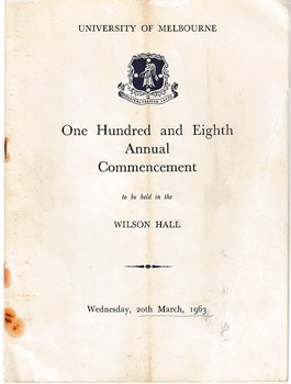 One hundredth and eighth annual commencement (Graduation ceremony program)